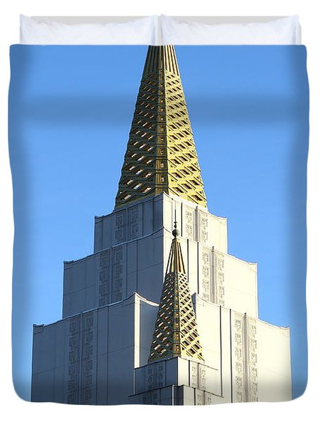 Oakland California Temple . The Church of Jesus Christ of Latter-Day Saints . 7D11381 Duvet Cover by Wingsdomain Art and Photography