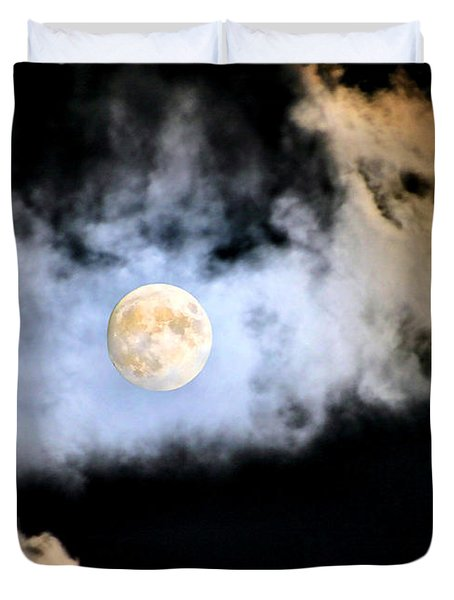 Obscured By Clouds Duvet Cover by Kristin Elmquist