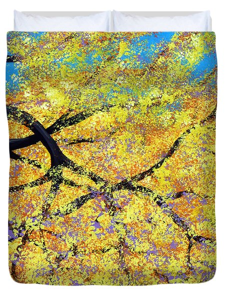 October Fall Foliage Duvet Cover by Alys Caviness-Gober