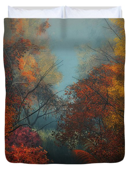 October Duvet Cover by Jutta Maria Pusl