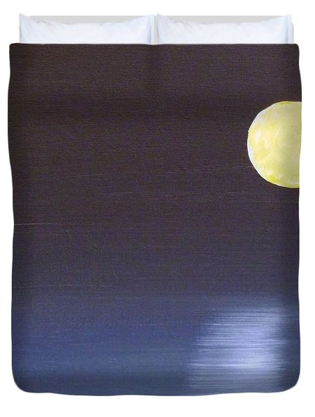 Offset Moon Duvet Cover by Alys Caviness-Gober
