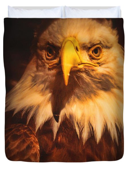 Old Abe Profile Duvet Cover by Tommy Anderson