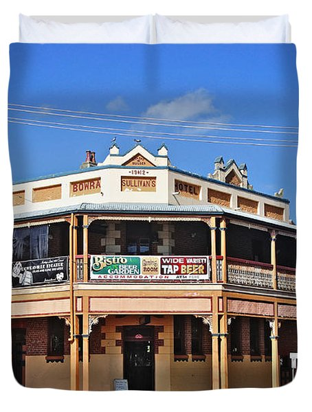 Old Aussie Pub Duvet Cover by Kaye Menner