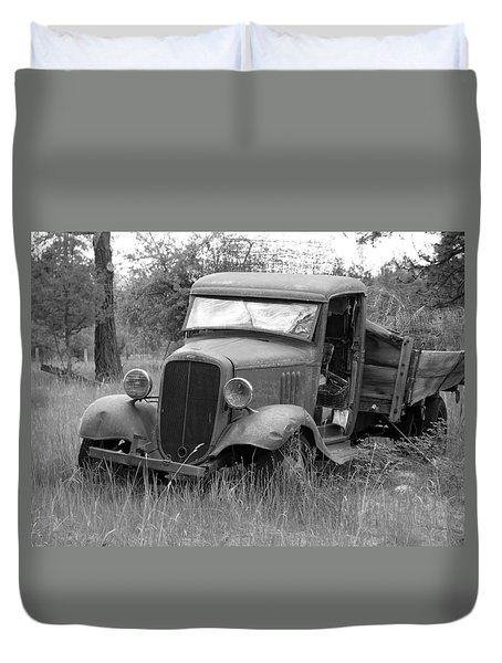 Old Chevy Truck Duvet Cover by Steve McKinzie