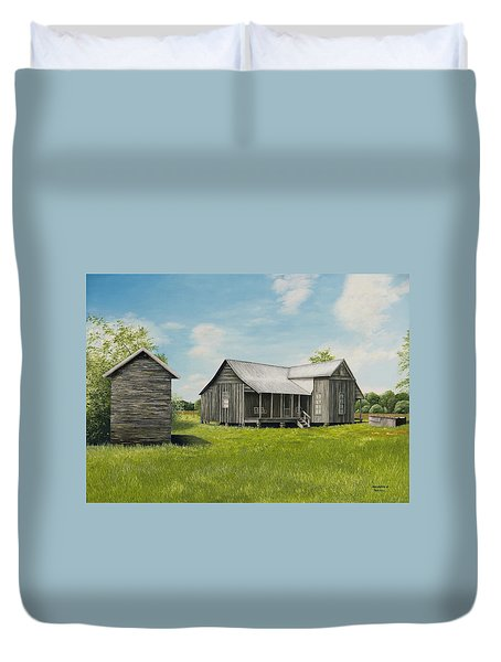 Old Clark Home Duvet Cover by Mary Ann King