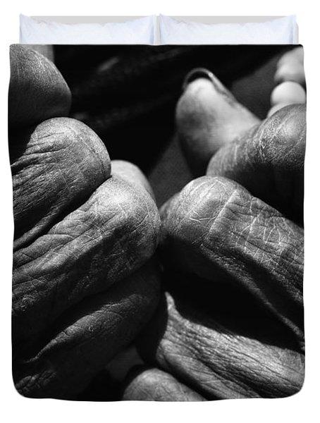 Old Hands 2 Duvet Cover by Skip Nall