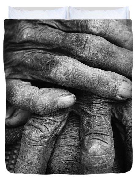 Old Hands 3 Duvet Cover by Skip Nall