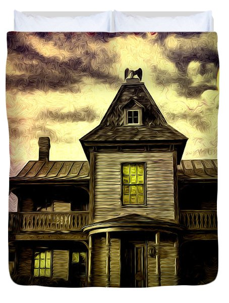 Old House At St Michael's Duvet Cover by Bill Cannon