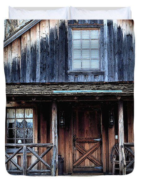 Old Log House2 Duvet Cover by Sandi OReilly