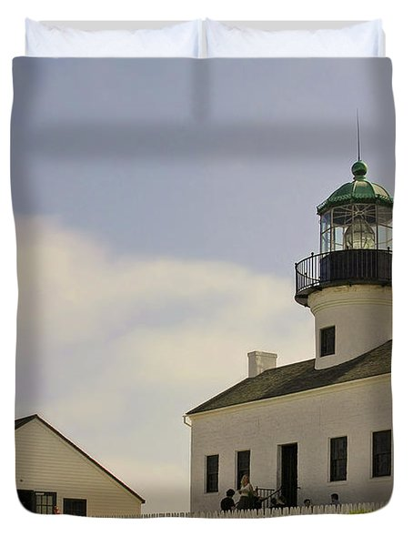 Old Point Loma Lighthouse - Cabrillo National Monument San Diego CA Duvet Cover by Christine Till