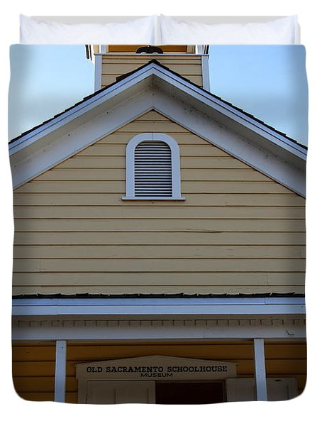 Old Sacramento California . Schoolhouse Museum . 7D11579 Duvet Cover by Wingsdomain Art and Photography