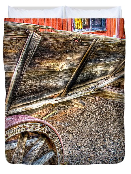 Old Wagon Duvet Cover by Jon Berghoff