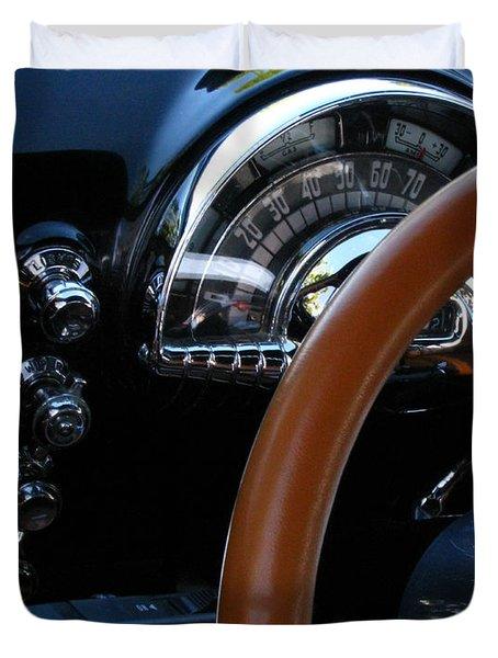 Oldsmobile 88 Dashboard Duvet Cover by Peter Piatt