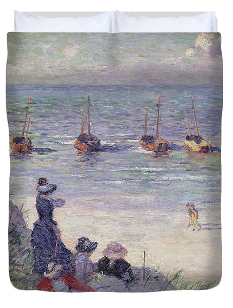 On The Dunes Duvet Cover by Theo van Rysselberghe