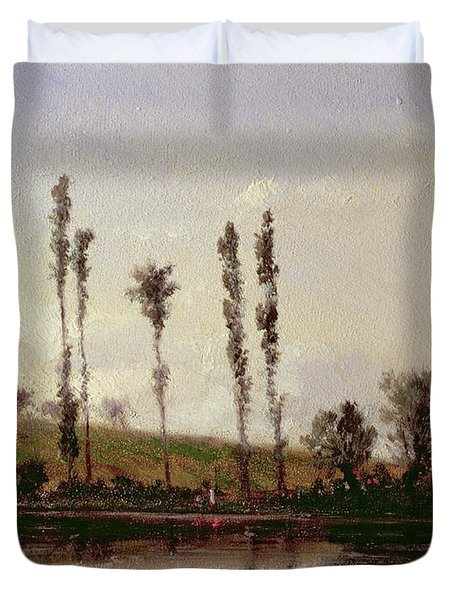 On The Outskirts Of Paris Duvet Cover by Camille Pissarro