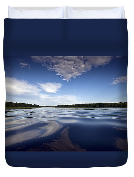 On The Water Duvet Cover by Gary Eason
