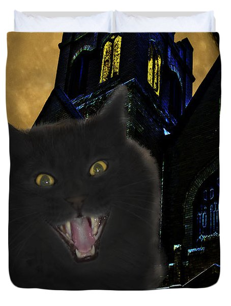 One Dark Halloween Night Duvet Cover by Shane Bechler