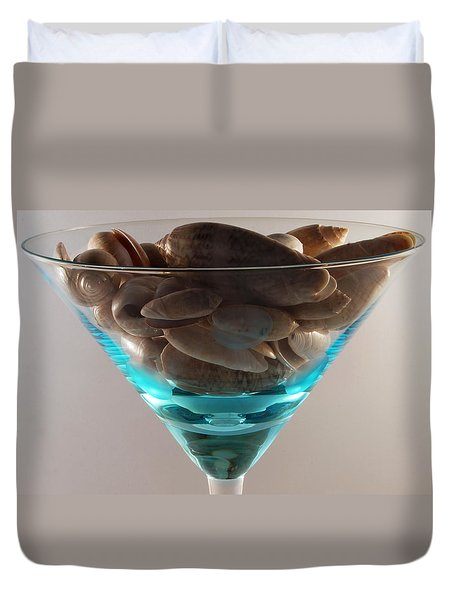 One Dirty Martini Duvet Cover by Skip Willits