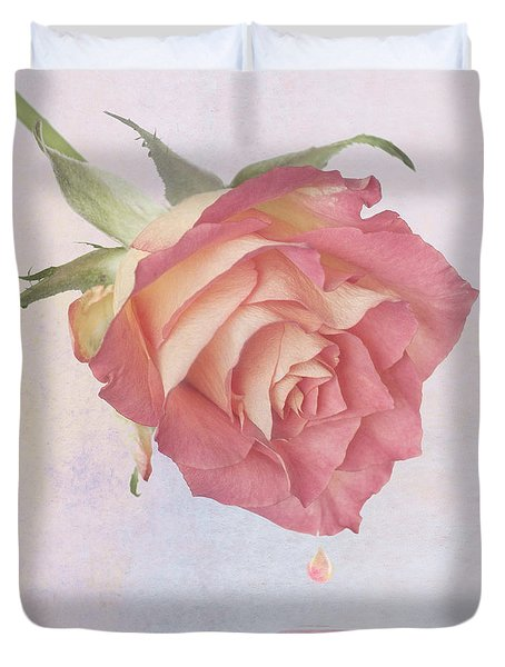 One Drop Of Love Duvet Cover by John Edwards