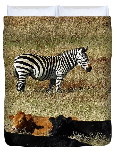 One Is Not Like The Others Duvet Cover by Methune Hively