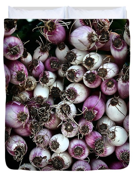 Onion Power Duvet Cover by Susan Herber