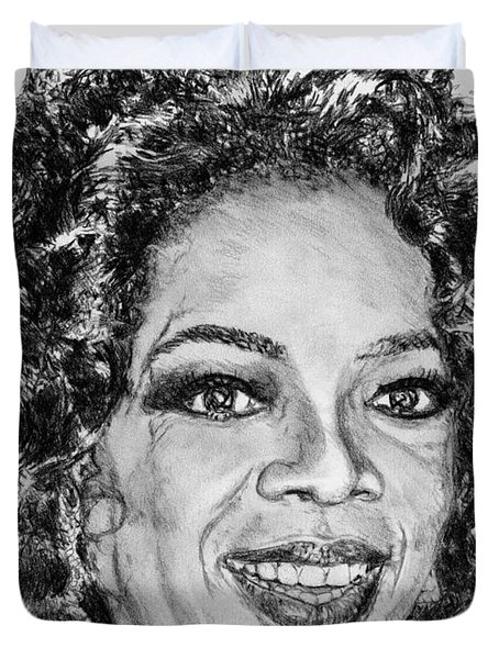Oprah Winfrey In 2007 Duvet Cover by J McCombie