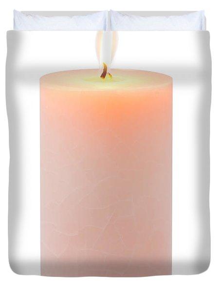 Orange Candle Duvet Cover by Atiketta Sangasaeng