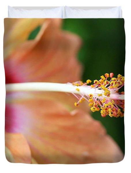 Orange Hibiscus Duvet Cover by Sabrina L Ryan