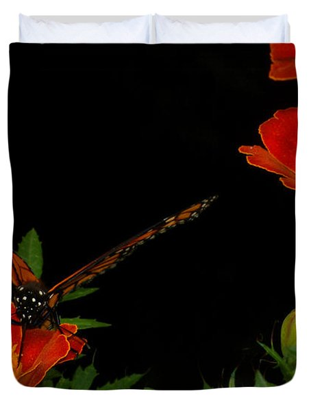 Orange On Orange Duvet Cover by Lydia Holly