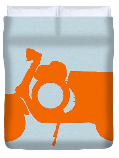 Orange Scooter Duvet Cover by Naxart Studio