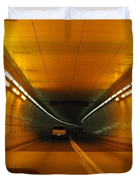 Orange Tunnel In Dc Duvet Cover by Ausra Huntington nee Paulauskaite