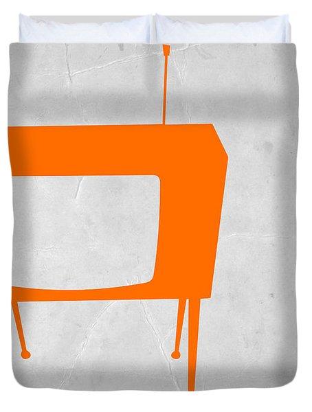 Orange Tv Duvet Cover by Naxart Studio