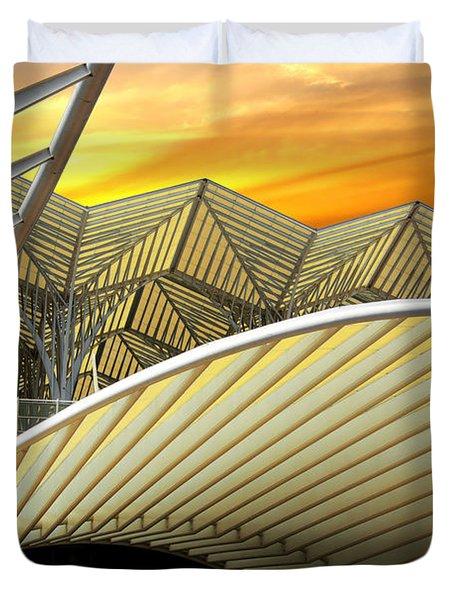 Oriente Station Duvet Cover by Carlos Caetano
