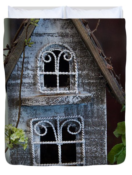 Ornamental Bird House Duvet Cover by Douglas Barnett