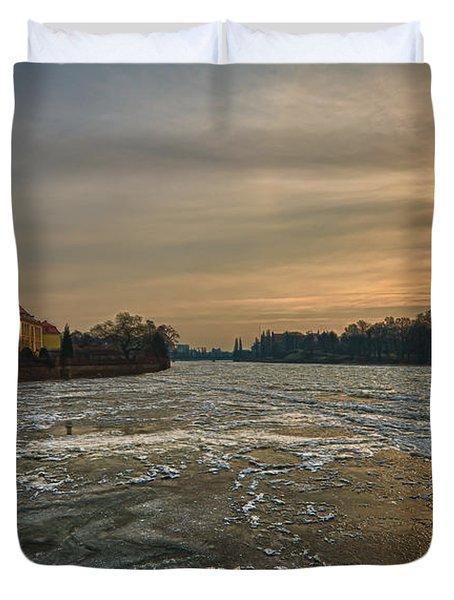 Ostrow Tumski Duvet Cover by Sebastian Musial