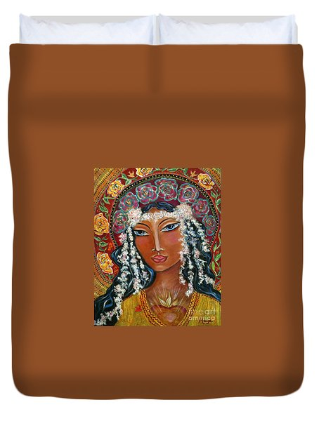 Our Lady Of Lost Causes Duvet Cover by Maya Telford