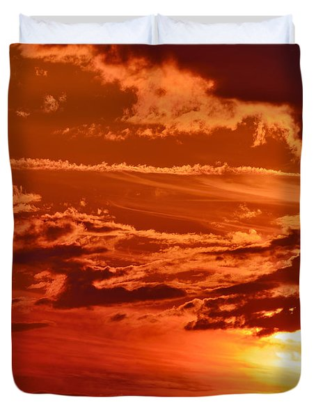 Out My Door Duvet Cover by Tony Beck