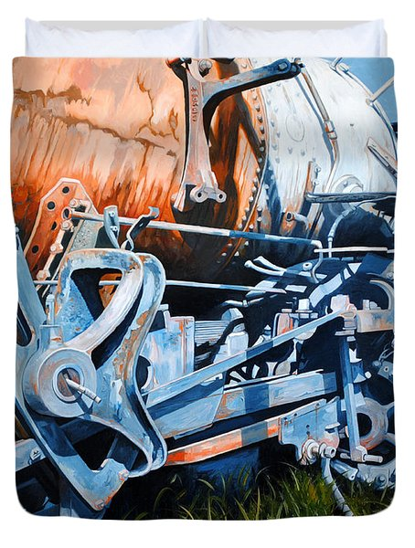 Out Of Gear Duvet Cover by Chris Steinken