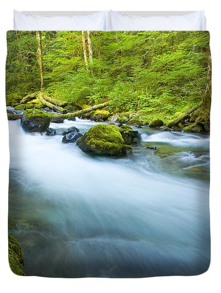 Out Of The Rainforest Duvet Cover by Mike  Dawson