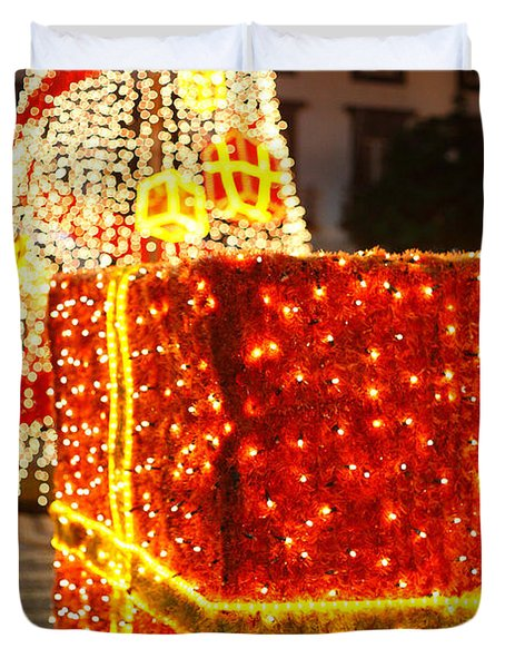 Outdoor Christmas Decorations Duvet Cover by Gaspar Avila