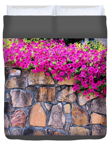 Over The Wall Duvet Cover by Jan Amiss Photography
