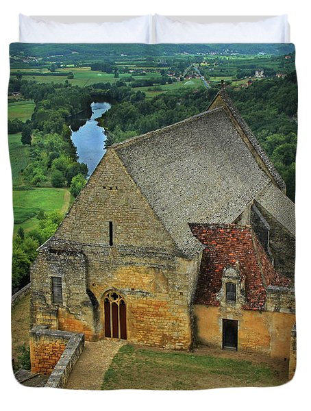 Overlooking The French Countryside Duvet Cover by Dave Mills