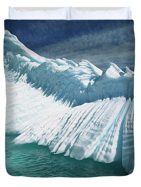 Overturned Iceberg With Eroded Edges Duvet Cover by Colin Monteath