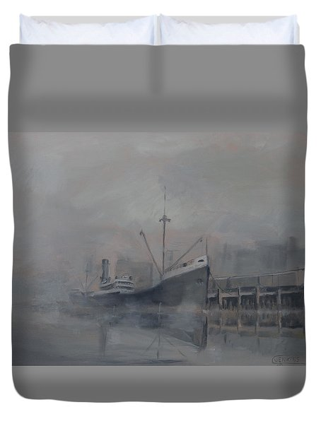 Pacific Trader Duvet Cover by Christopher Jenkins