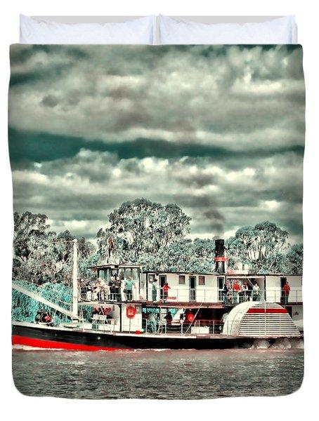 Paddle Steamer Duvet Cover by Douglas Barnard