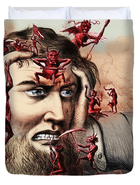 Pain Duvet Cover by Omikron and Photo Researchers
