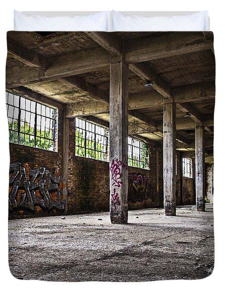 Paint And Concrete Duvet Cover by CJ Schmit
