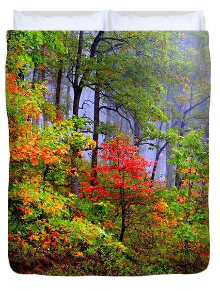 Painted Autumn Duvet Cover by Carolyn Wright