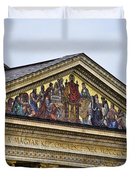 Palace Of Art - Heros Square - Budapest Duvet Cover by Jon Berghoff