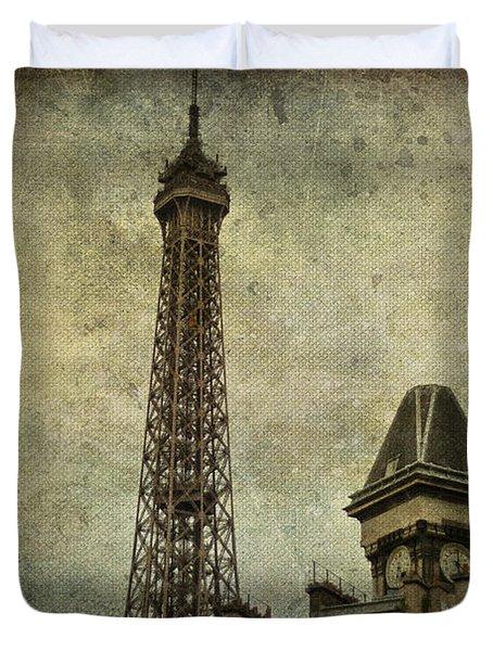 Pale Paris Duvet Cover by Nomad Art And  Design